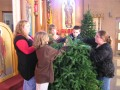 Decorating the Church for Christmas