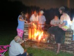 Youth group camp out combines fun and service